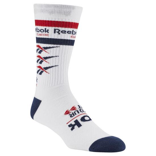 Reebok - Classics Vector Graphic Crew sock White DN6022