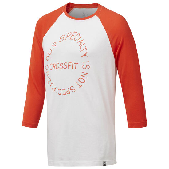 Reebok - CrossFit Raglan White / Carotene DH3701
