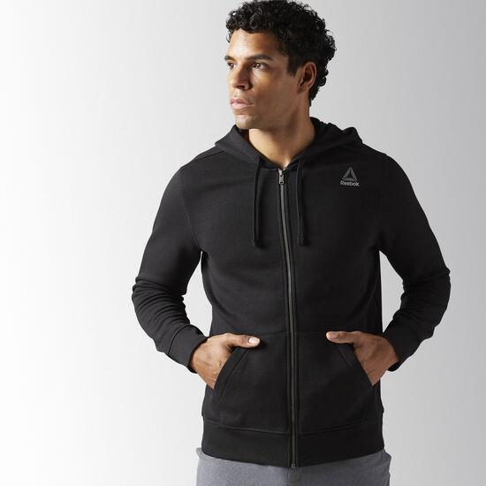 Reebok - Training Essentials Fleece Full Zip Hoodie Black BK4993