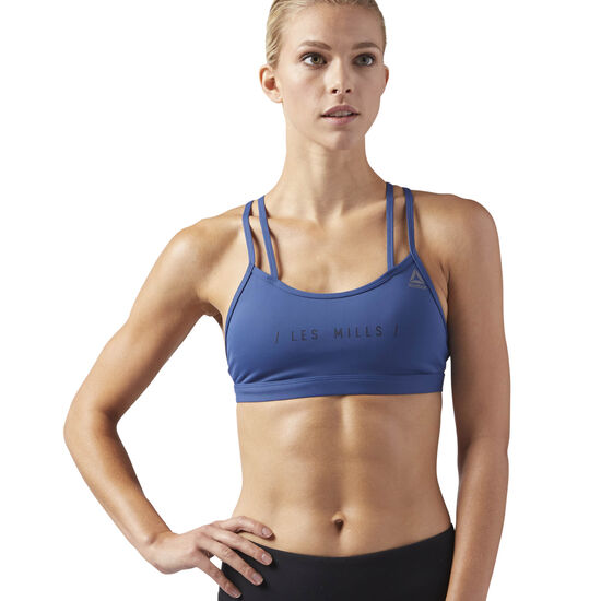 Reebok - LES MILLS HERO STRAPPY BRA- PADDED Washed Blue CD6217