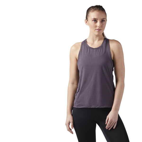 Perforated Speedwick Tank Grey CG1069