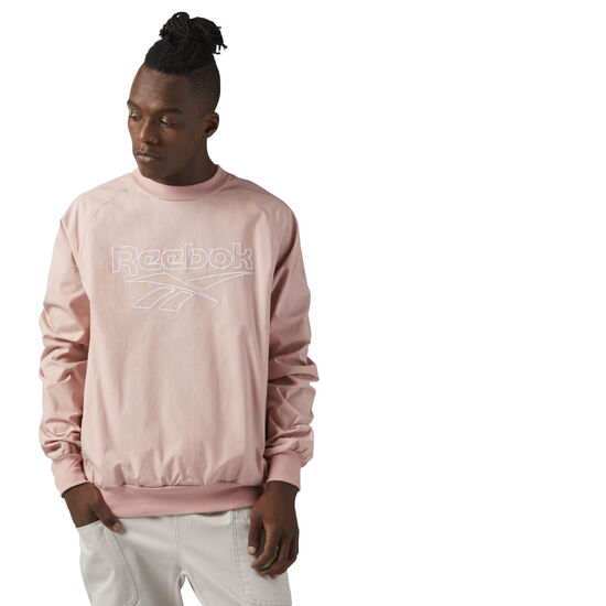Reebok - Woven Cotton Crew Neck Chalk Pink CE4997