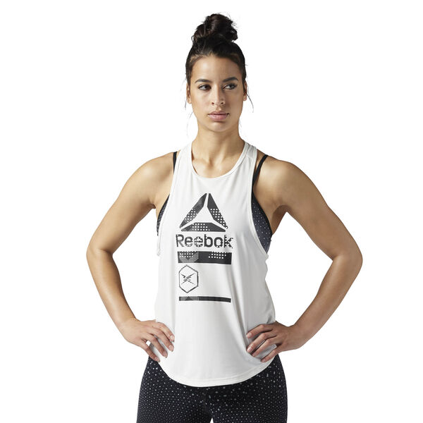 ACTIVCHILL Graphic Tank White BQ4909