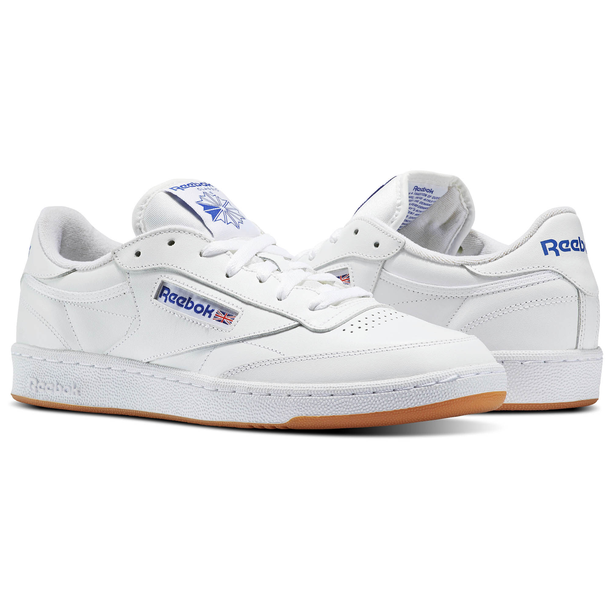 Reebok - Club C 85 Intense White/Royal-Gum AR0459