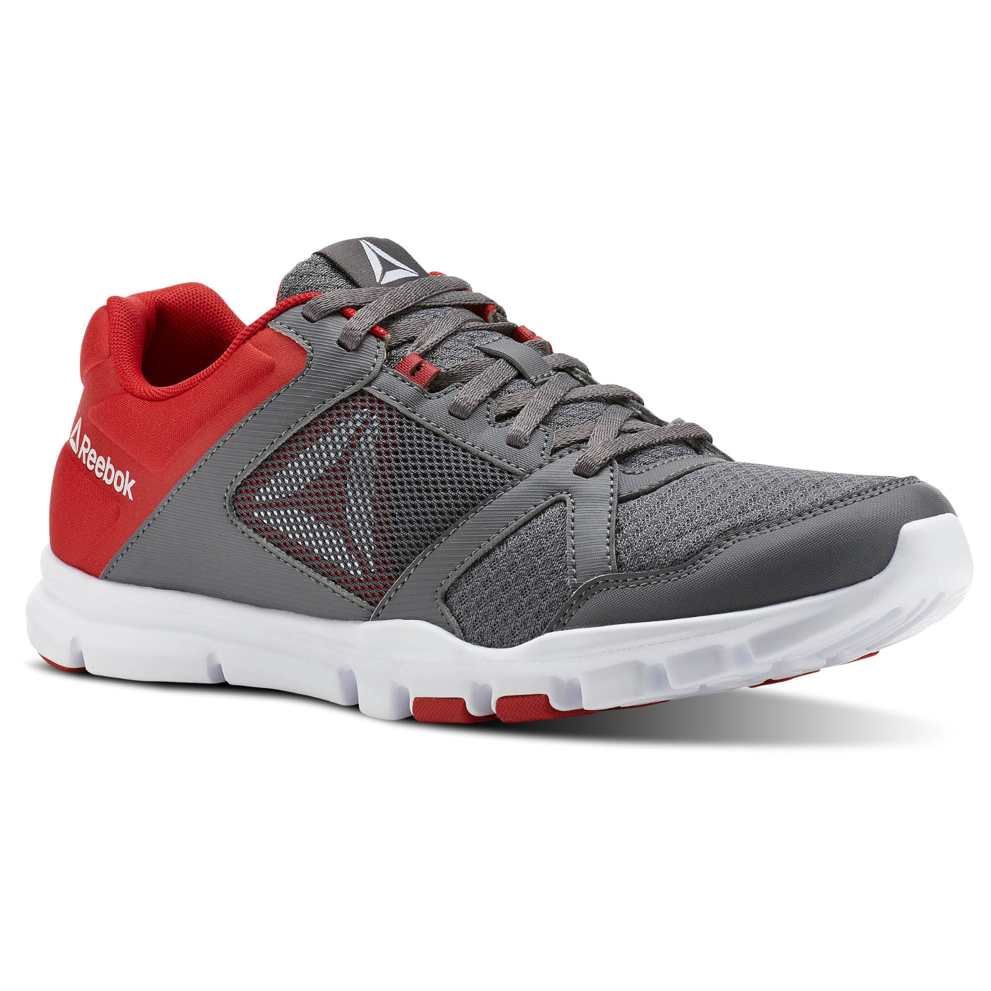 Reebok YOURFLEX TRAIN 10 MT - Sports shoes - shark/primal red/white h4gb1A