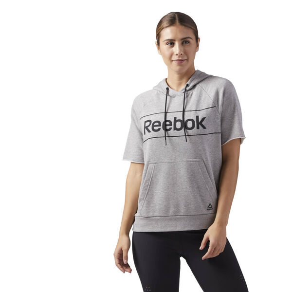 Workout Ready Short Sleeve Hoodie Grey CE4501