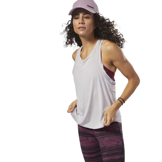 Reebok - Perforated Speedwick Tank Lavender Luck D93963