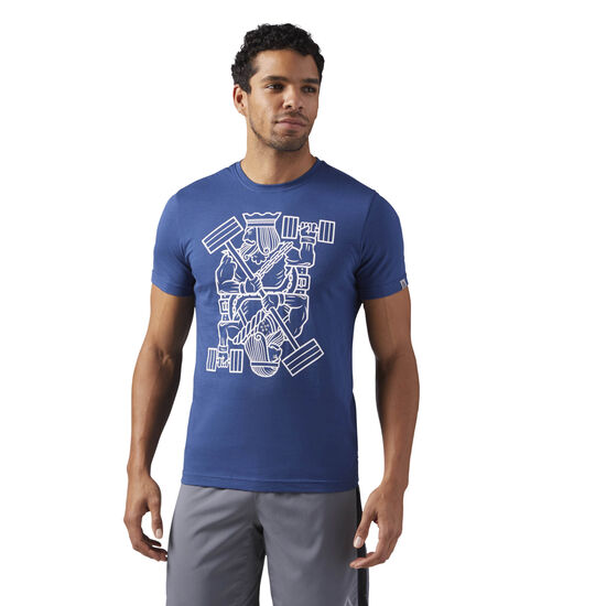 Reebok - King of Training Graphic T-Shirt Washed Blue CF3845