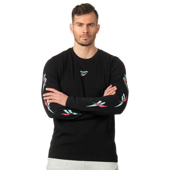 Reebok - LF Long Sleeve Print T-Shirt Black DN9805