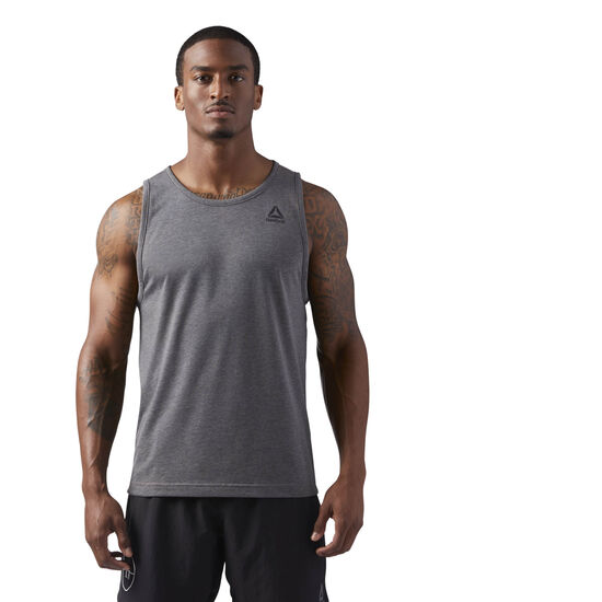 Reebok - LES MILLS Dual Blend Tank Solid Grey CD6193