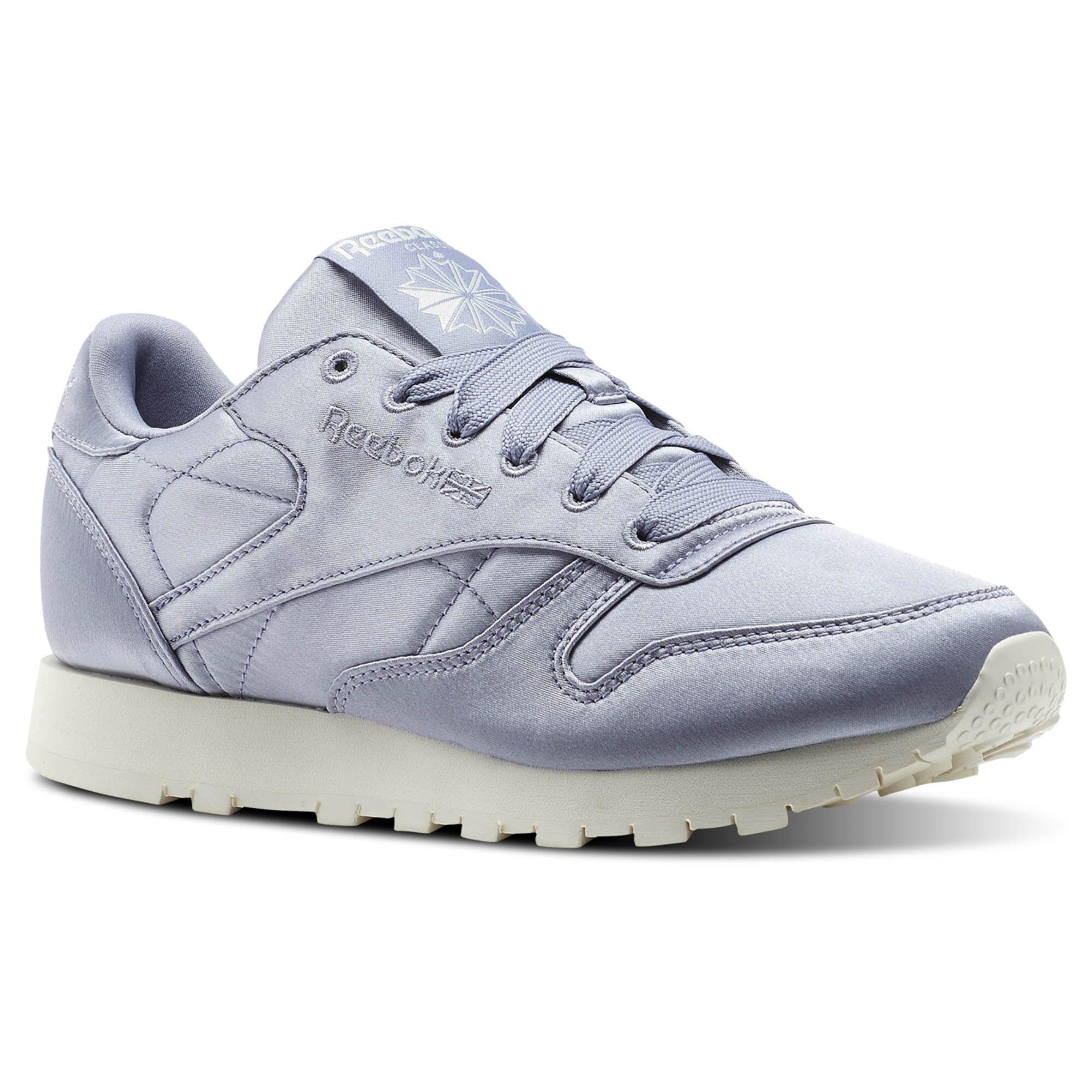 Schuhe Reebok - Cl Lthr Satin CM9801 Purple Fog/Classic Wht 3mGlCYR7
