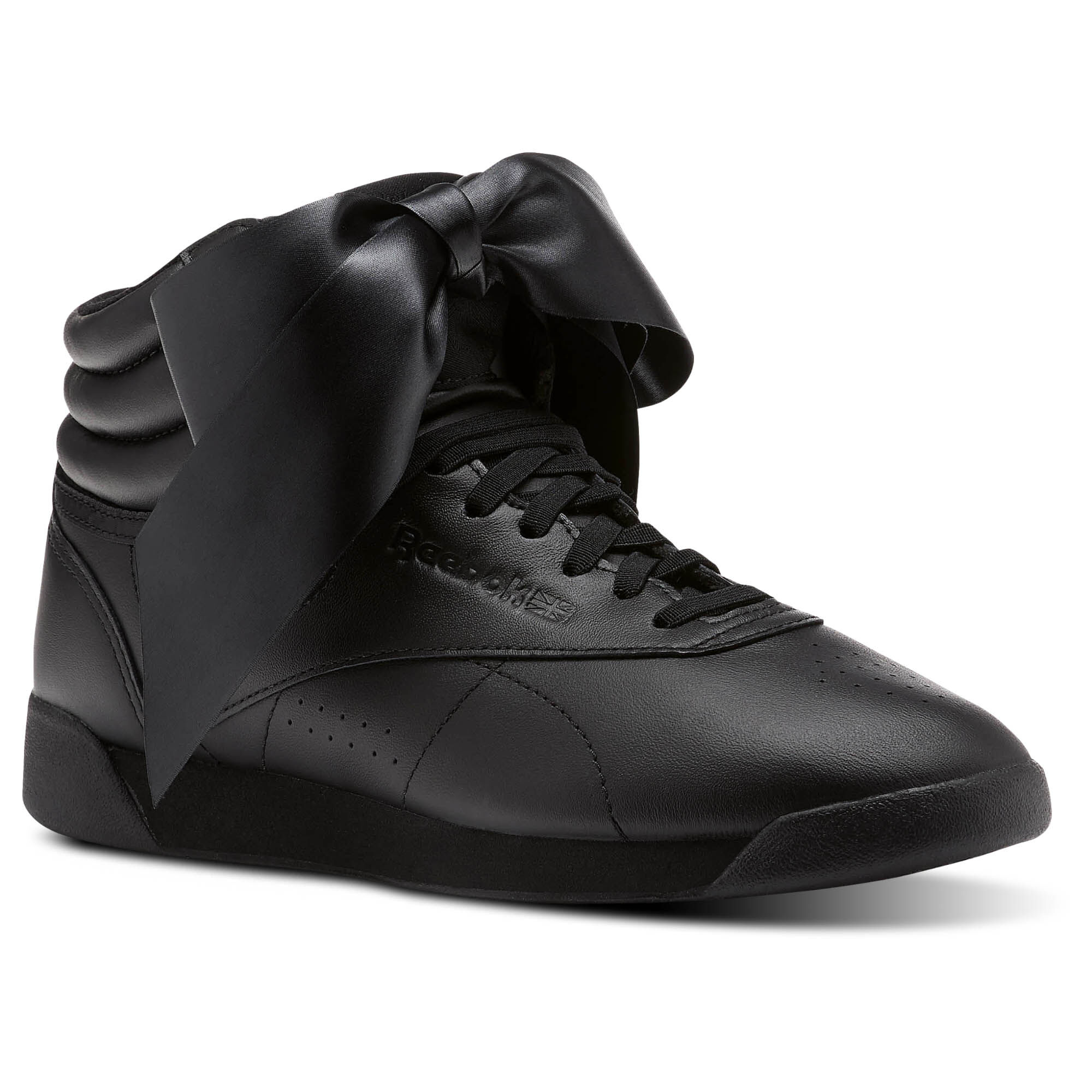 Reebok - Freestyle Hi Satin Bow Black/Skull Grey CM8904