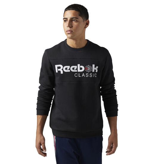 Reebok - Reebok Classics Iconic crew neck Sweatshirt Black BQ2655