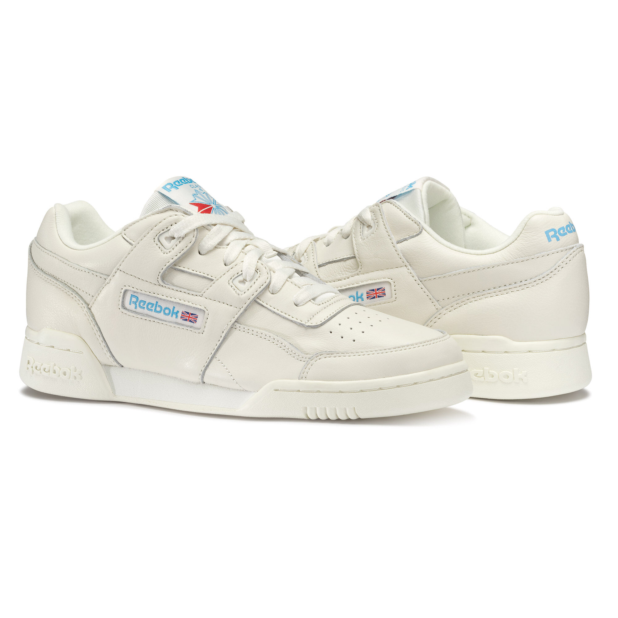 Reebok - Workout Plus Chalk / Athletic Blue Sneaker Schuhe