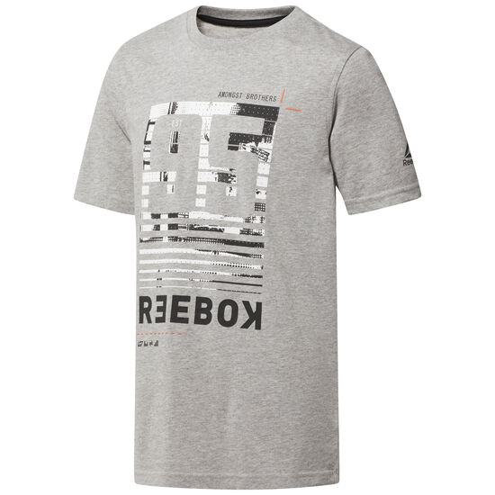 Reebok - Cotton Graphic T-Shirt Medium Grey Heather CF4206
