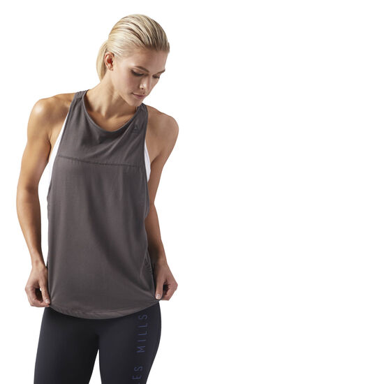 Reebok - LES MILLS Quik Cotton Tank Urban Grey CD6203