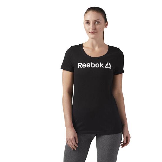 Reebok - Reebok Scoop Neck Tee Black/White CF4455