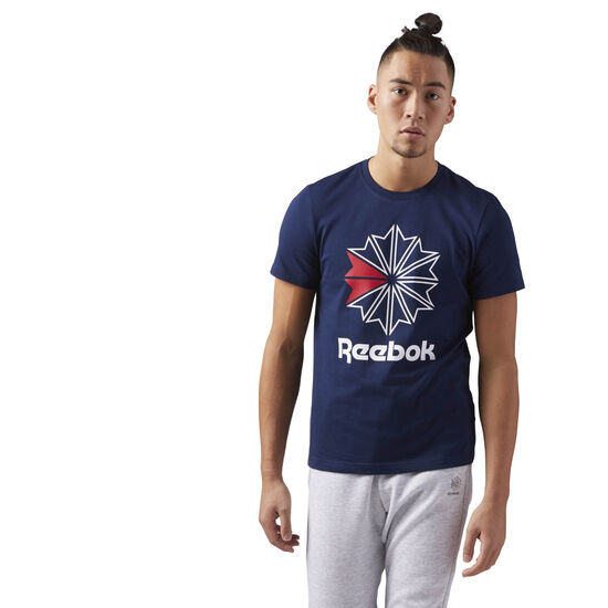 Reebok - Reebok Classics Big Logo Tee Collegiate Navy/White CD8393