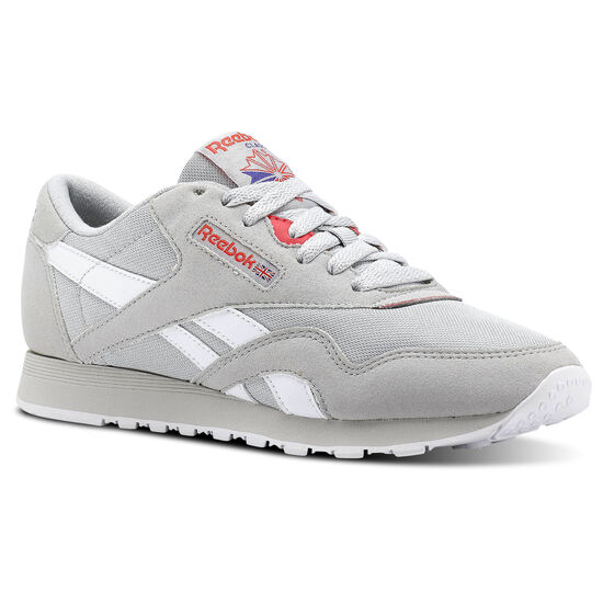Reebok - Classic Nylon Retro-Skull Grey/Neon Cherry/Ultima Prple/Wht CN2965