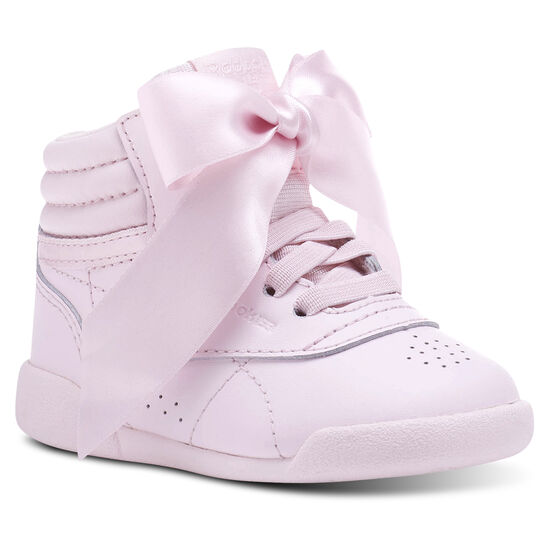 Reebok - Freestyle HI Satin Bow Porcelain Pink/Skull Grey CN2027