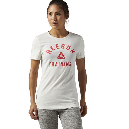 Reebok - Training Crewneck Tee Chalk CD9615