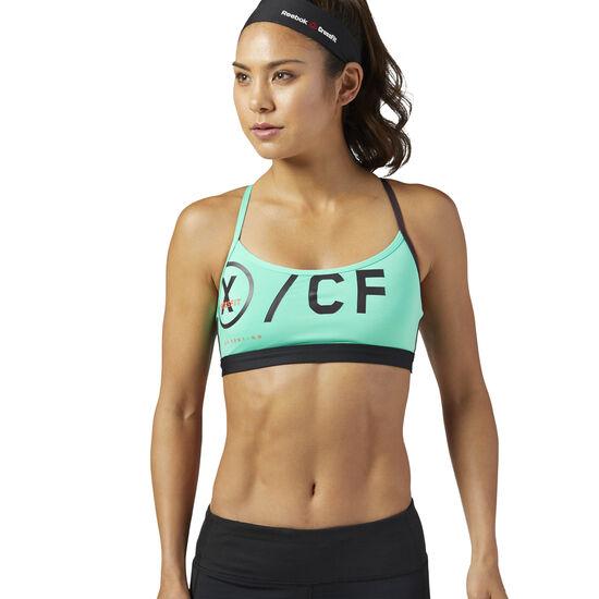 Reebok - Reebok CrossFit Strappy Sports Bra Turquoise/Bright Emerald BQ5157
