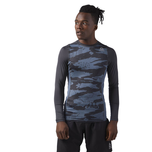 Long Sleeve Compression T-Shirt Grey CE0128