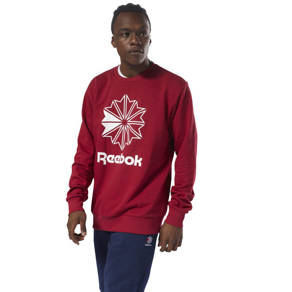 Classics French Terry Big Iconic Crewneck Red DM5159