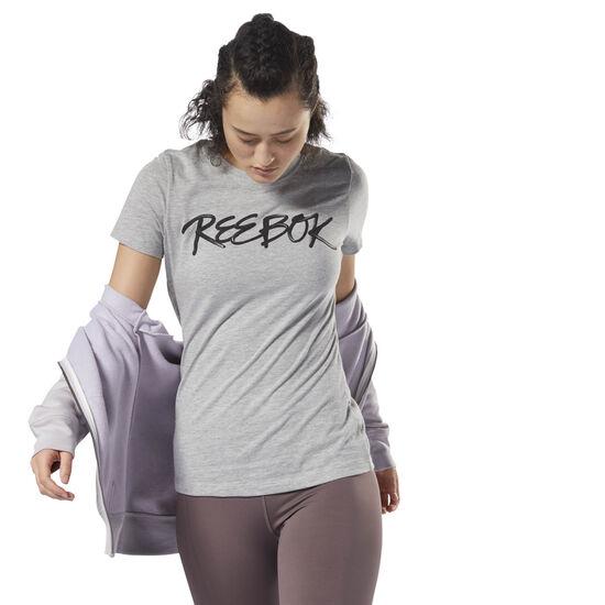 Reebok - GS Script Reebok Tee Medium Grey Heather DH3732
