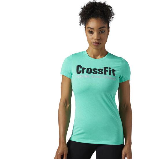 Reebok - Reebok CrossFit Speedwick F.E.F. Tee Turquoise/Bright Emerald BR0629
