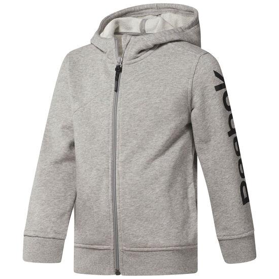 Reebok - Boy's Reebok Full Zip Hoodie Medium Grey Heather CF4279