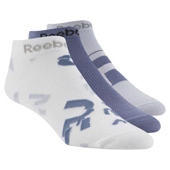 Reebok - Women's Running 3-Pack Sock White / Blue Slate / Cloud Grey D68169