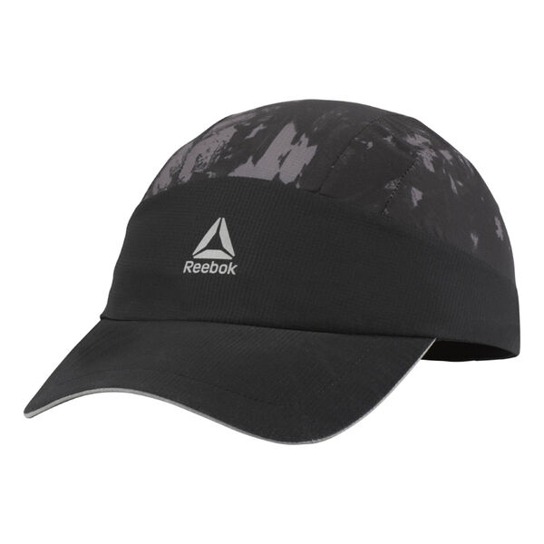 Running Graphic Perforated Cap Black D68158
