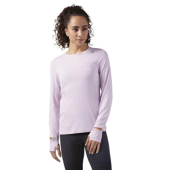 Reebok - ACTVChill Long Sleeve Running Shirt Pink/Moonglow CE4535