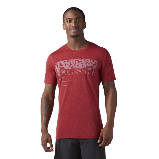 Reebok - Reebok CrossFit Poly Blend Tee Rich Magma Melange CD4501