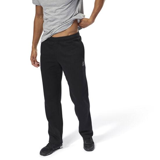 Reebok - Training Essentials Fleece Open Hem Pants Black CY4860