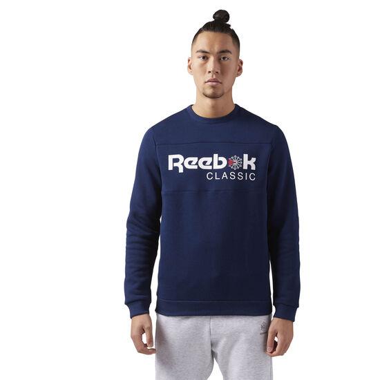 Reebok - Reebok Classics Iconic crew neck Sweatshirt Collegiate Navy/Collegiate Navy CE1849