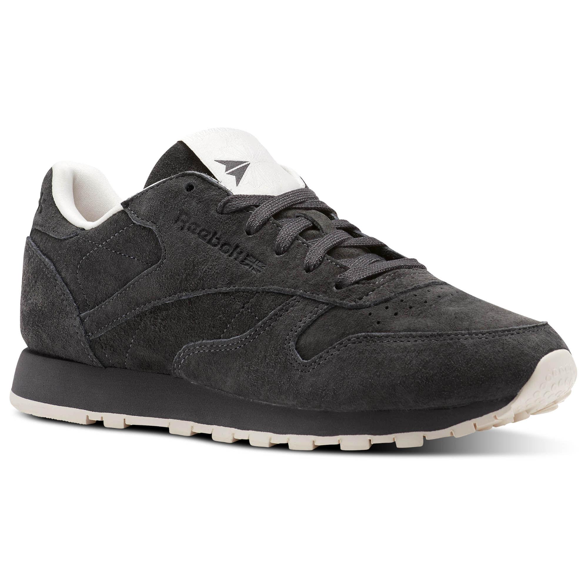 Womens Classic Leather Tonal NBK Low-Top Sneakers, Grey Reebok