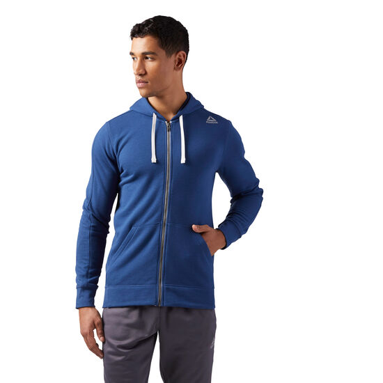 Reebok - French Terry Full-Zip Hoodie Washed Blue CE4757