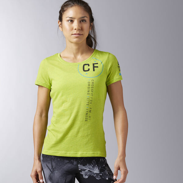 Reebok CrossFit Perforated Graphic Tee Green B45240