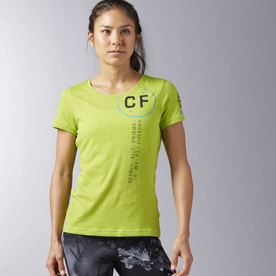 Reebok - Reebok CrossFit Perforated Graphic Tee Kiwi Green B45240