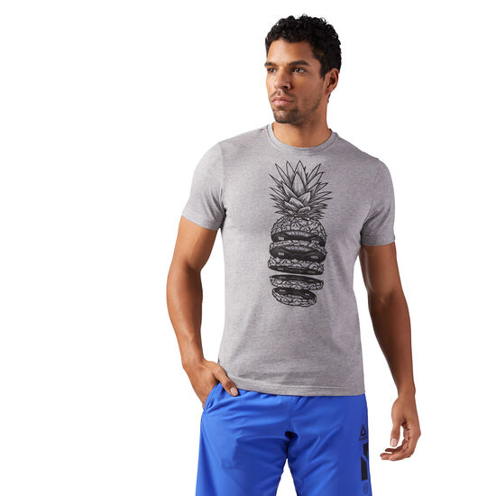 Reebok - Pineapple Weights T-Shirt Medium Grey Heather CF3860