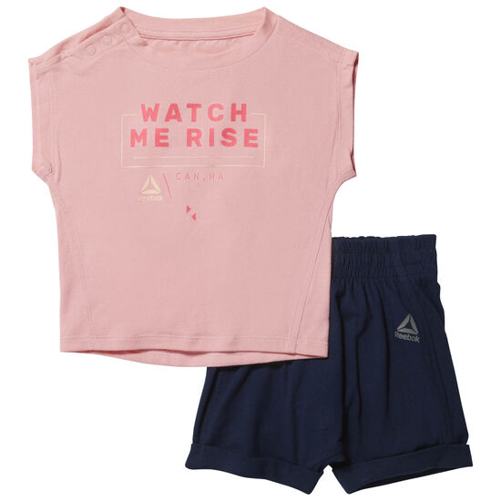 Reebok - Essentials Infant Single Jersey Short Sleeve Set Squad Pink CF2745