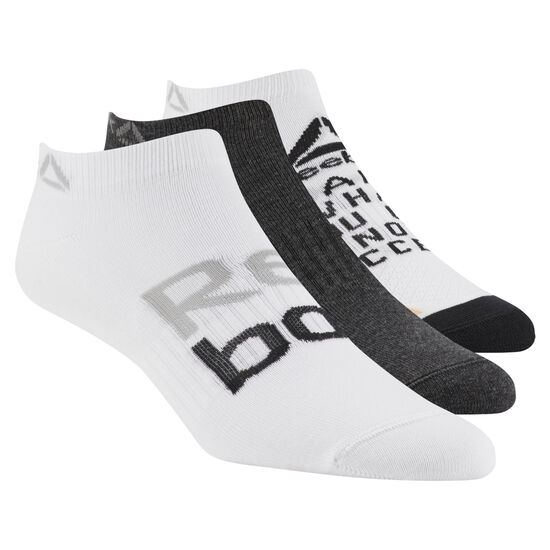 Reebok - Foundation Women's 3-Pack No-Show Sock White / Black Melange / White D56073