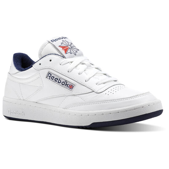 Reebok - Club C 85 Archive White/Collegiate Navy/Excellent Red CN0646