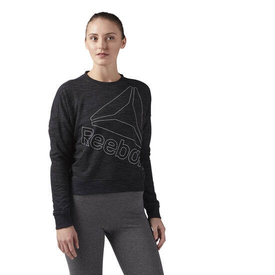 Reebok - Reebok Training Essentials Logo Crew Neck Black CF8649