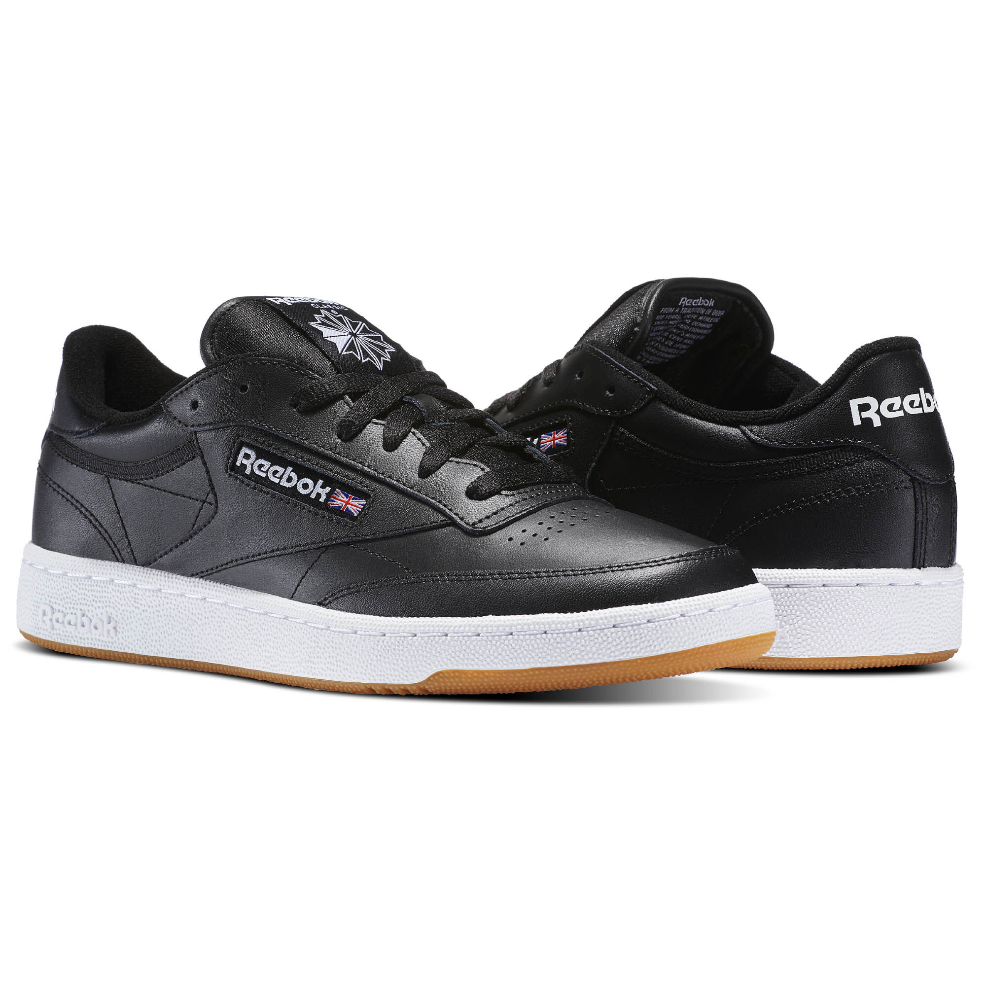 Reebok Classic CLUB C 85 - Trainers - intense black/white-gum 3ah9KJ0b