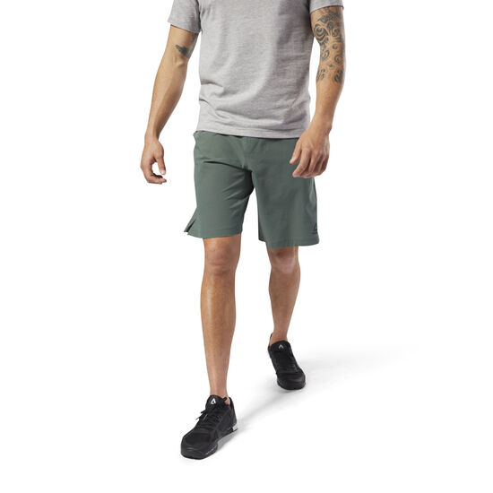 Reebok - Reebok Epic Knitted Waistband Shorts Chalk Green CY4902