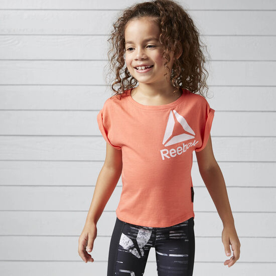 Reebok - Girls Essentials Tee Fire Coral BK4274