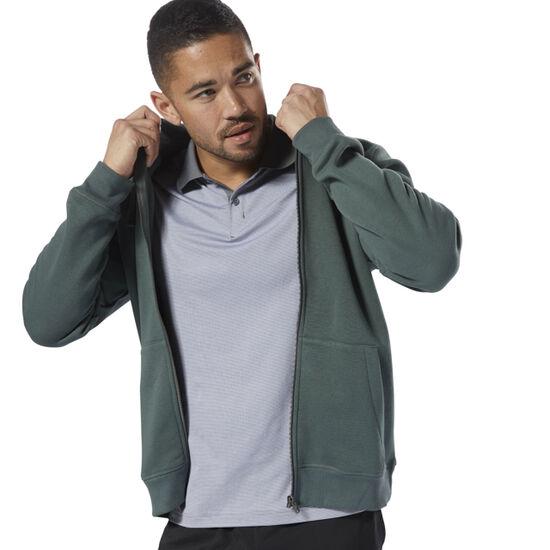 Reebok - Elements Fleece Full Zip Hoodie Chalk Green D94205
